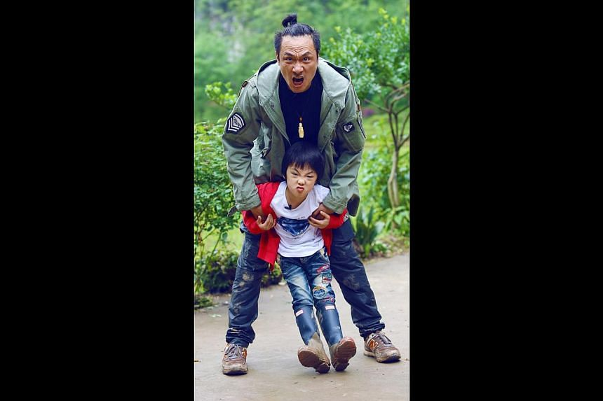 Actor Francis Ng and his son Feynman, aged five, in Where Are We Going? Dad. -- PHOTO: STARHUB