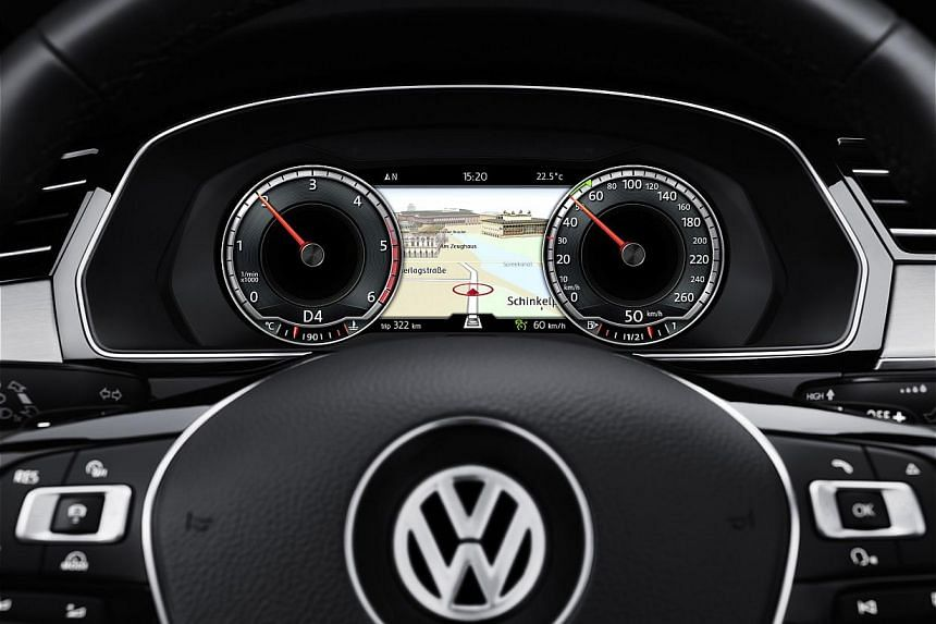 The new Passat is totally re-engineered and comes with a virtual digital instrument cluster.
