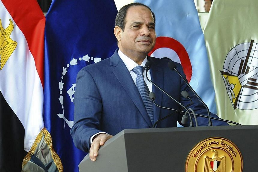 Egyptian President Abdel Fattah al-Sisi urged Israel to reach a peace deal with the Palestinians as an international donor conference began in Cairo on Sunday to raise funds for Gaza. -- PHOTO: REUTERS