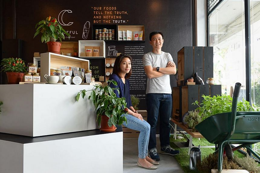 Founders of Crateful Joey Gan and Angela Phua (both above) want to give support to the producers of artisanal food here. -- PHOTO: NG SOR LUAN