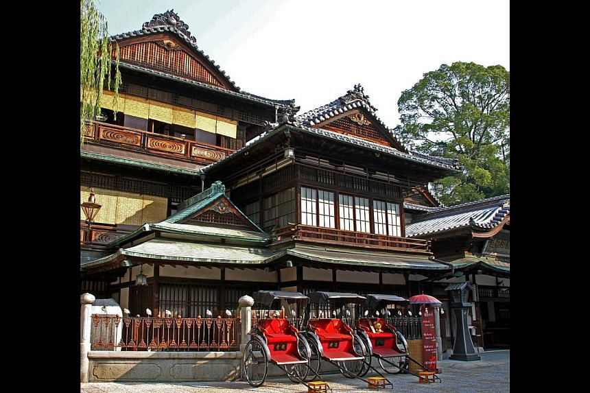 Visit the famous Dogo Onsen in Shikoku (left) or drive around the island of Jeju (right).