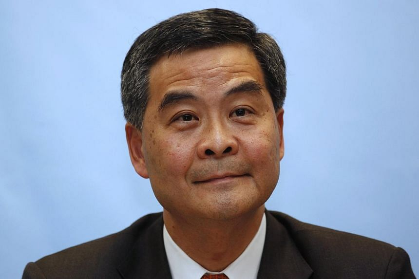 Hong Kong Chief Executuve Leung Chun Ying attending a forum for chief executive candidates in Hong Kong in this March 12, 2012 file photo. -- FILE PHOTO: REUTERS