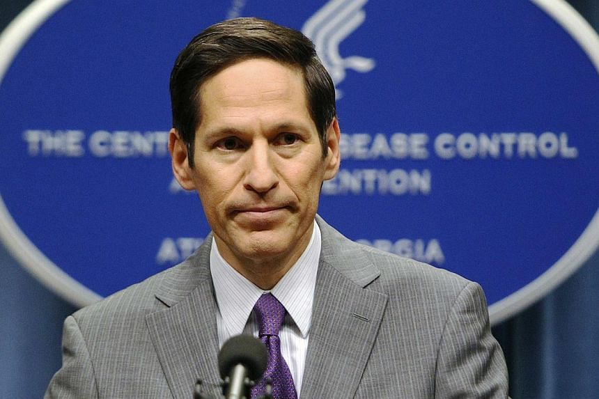 Centers for Disease Control and Prevention (CDC) Director Dr. Thomas Frieden speaks at the CDC headquarters in Atlanta, Georgia in this Sept 30, 2014 file photo. -- PHOTO: REUTERS