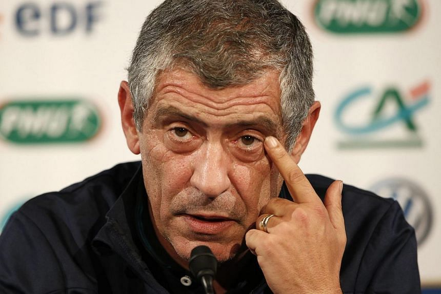 Portugal's new head coach Fernando Santos attends a news conference at the Stade de France stadium in Saint-Denis, near Paris, on Oct 10, 2014.The Court of Arbitration for Sport on Monday allowed former Greece coach Fernando Santos, now in char