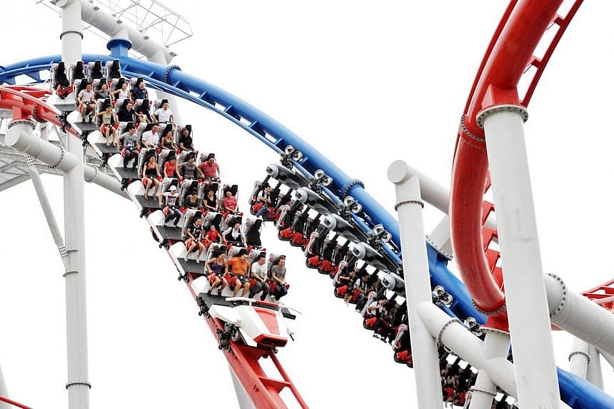 "The Battlestar Galactica roller coaster at Universal Studios Singapore (USS) may be able to re-open by the end of this year after it was closed in July last year for an ""attraction review"". -- PHOTO: ST FILE"