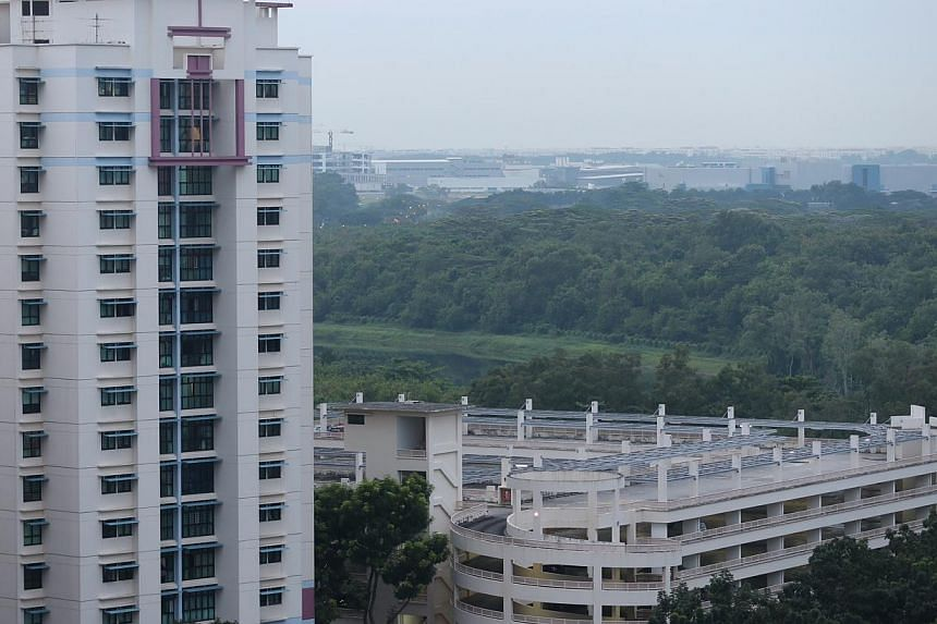The view from Sengkang at about 7am on Oct 13, 2014. -- ST PHOTO: NEO XIAOBIN