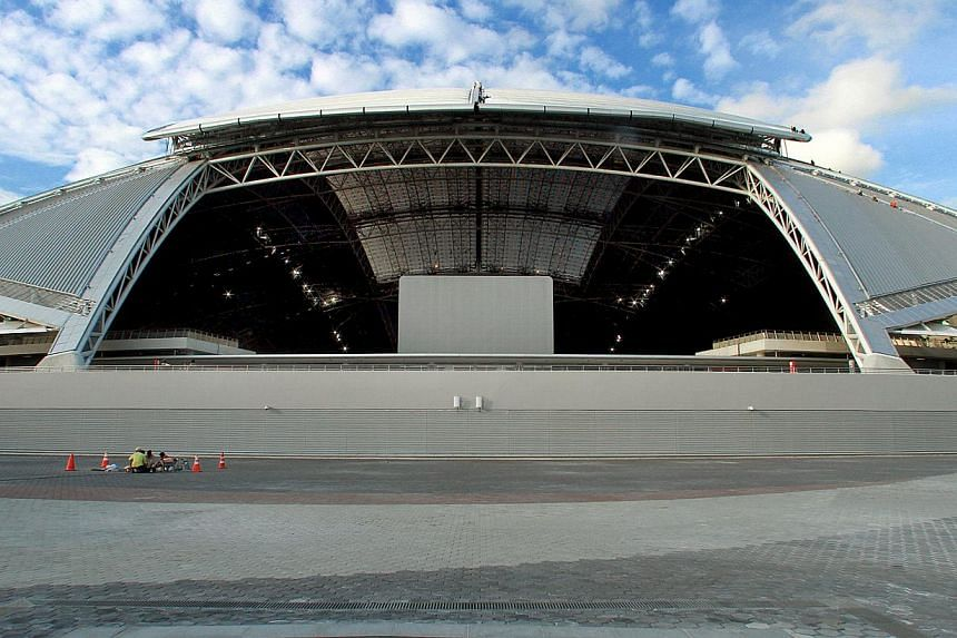 With a capacity 55,000 crowd expected for the clash, it will be the first time that a football match of such a scale will be played under the closed retractable domed roof of the new stadium. -- ST PHOTO FILE