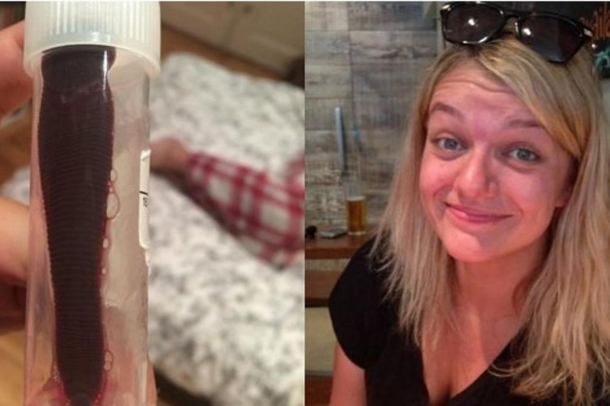 A British woman brought home an unexpected stowaway from a backpacking trip in South-east Asia.After returning home to Edinburgh, 24-year-old Daniela Liverani was horrified to discover a 7.5cm leech had been living in her nose for about a month