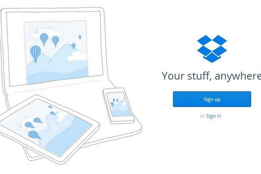 Hundreds of alleged usernames and passwords for online document-sharing site Dropbox were published on Monday on Pastebin, an anonymous information-sharing website. -- PHOTO: SCREENGRAB FROM DROPBOX