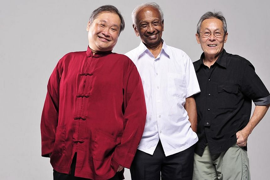 (From left) Founder and artistic director of The Necessary Stage Alvin Tan, poet and writer KTM Iqbal and sculptor Chong Fah Cheong will be conferred the Cultural Medallion by President Tony Tan Keng Yam at a ceremony at the Istana on Thursday evenin