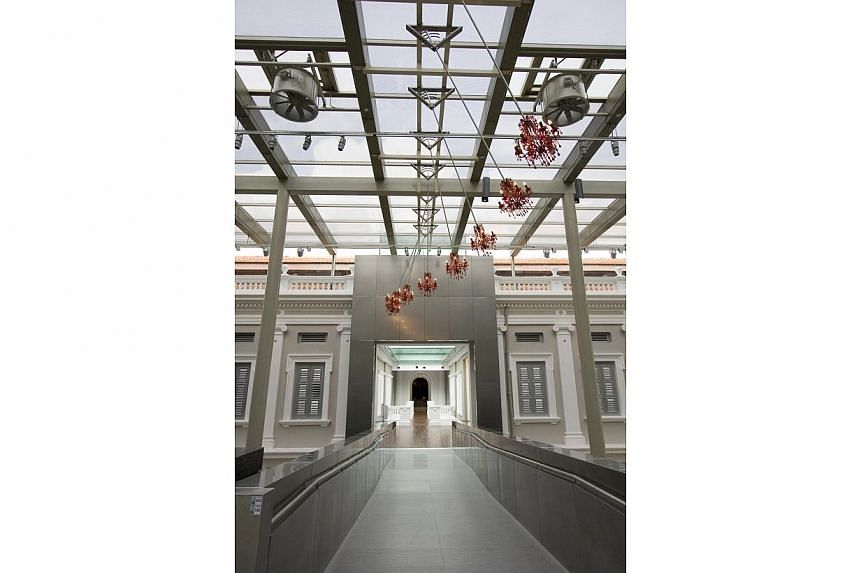 Contours Of A Rich Manoeuvre, an installation by Australia-based Singapore artist Suzann Victor. -- PHOTO: NATIONAL MUSEUM OF SINGAPORE