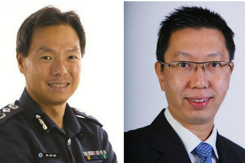 Commissioner of Police Ng Joo Hee (left) will be appointed chief executive of national water agency PUB with effect from Jan 6 next year. PUB's former chief executive Chew Men Leong had held spent three years at the helm before joining the Land Trans