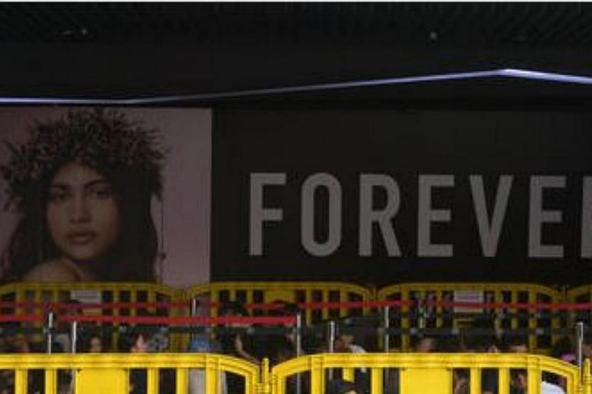 American fashion chain Forever21's outlet at Somerset 313. -- PHOTO: ST FILE