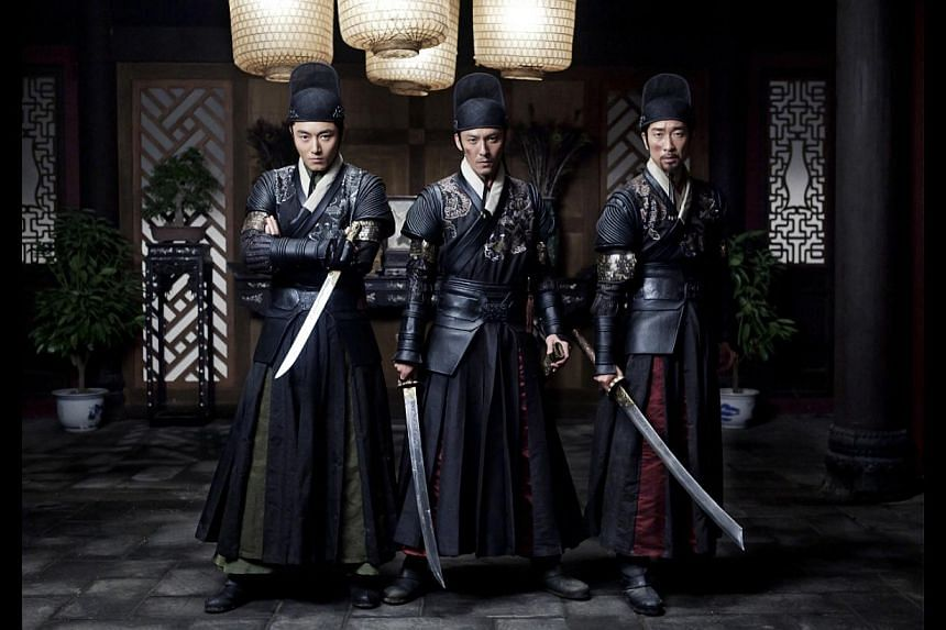 Palace assassins (from left) Yichuan (Li Dongxue), Shen Lian (Chang Chen) and Jianxing (Wang Qianyuan) are motivated by money and status. -- PHOTO: GOLDEN VILLAGE PICTURES