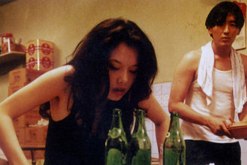 Mee Pok Man, which starred Michelle Goh and Joe Ng (both above), was based on a short story in Damien Sin's Classic Singapore Horror Stories. -- PHOTO: ZHAO WEI FILMS