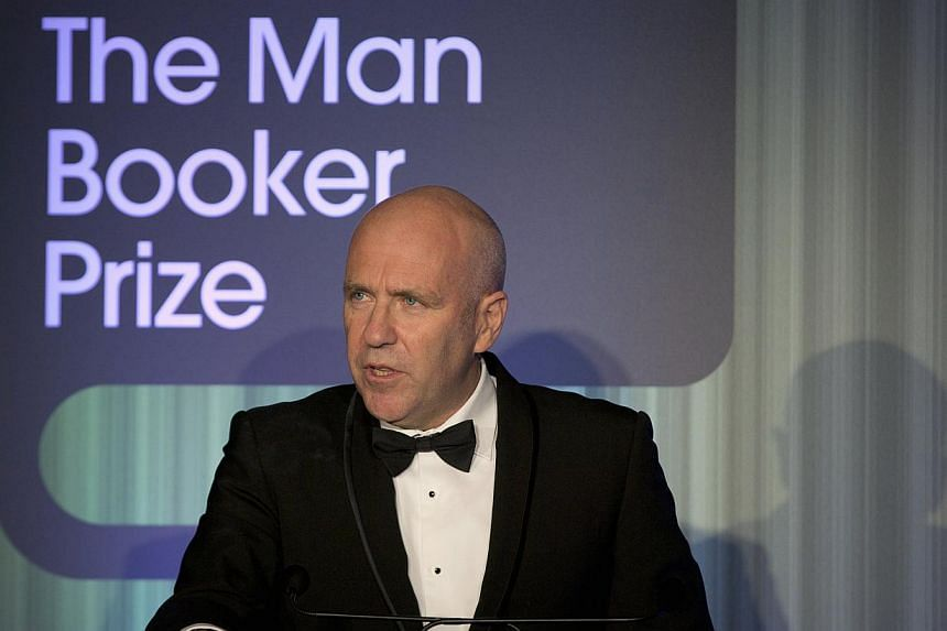 Australian author Richard Flanagan, who wrote The Narrow Road To The Deep North, speaks after winning the 2014 Man Booker Prize for Fiction at the Guildhall in London, England on Oct 14, 2014. -- PHOTO: REUTERS