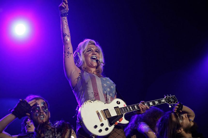 Singer Kesha performs during a concert at the Rock in Rio music festival in Rio de Janeiro, Brazil on Sept 29, 2011. -- PHOTO: REUTERS