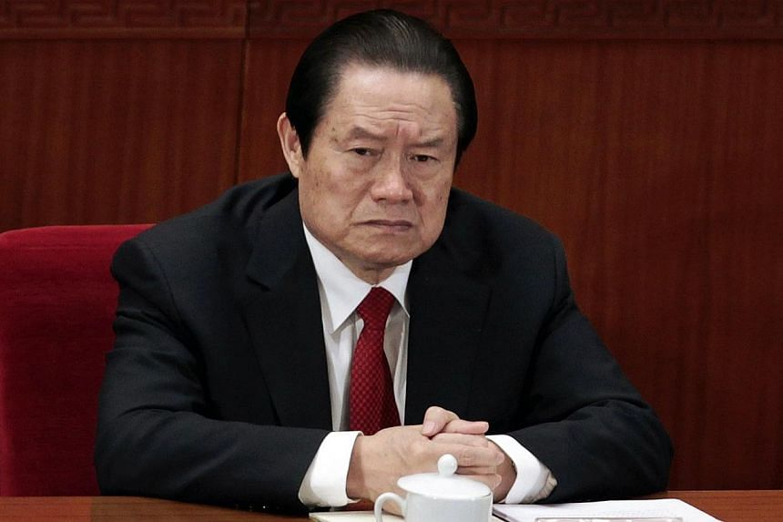 China's disgraced former domestic security chief Zhou Yongkang looks set to be expelled from the ruling Communist Party at a key meeting next week, sources said, possibly paving the way for his formal prosecution. -- PHOTO: REUTERS