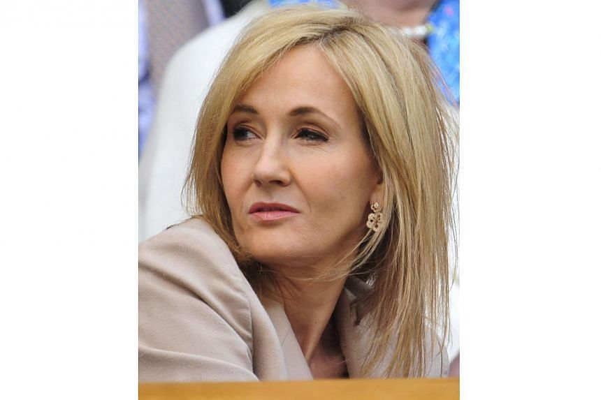 This 2013 file photo shows British author J.K. Rowling at the Wimbledon Championships tennis tournament in Wimbledon, south-west London. -- PHOTO: AFP