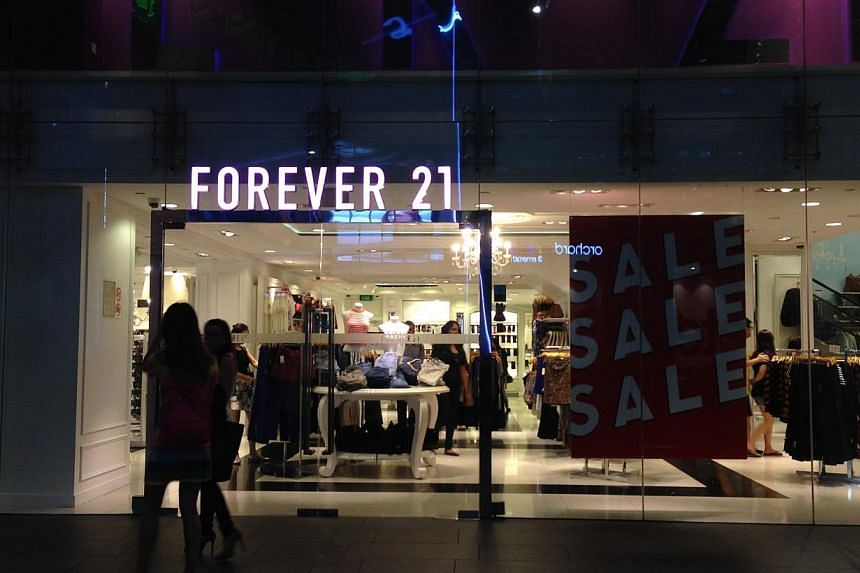 The Forever21 store at 313@Somerset. -- ST PHOTO: BRYNA SINGH