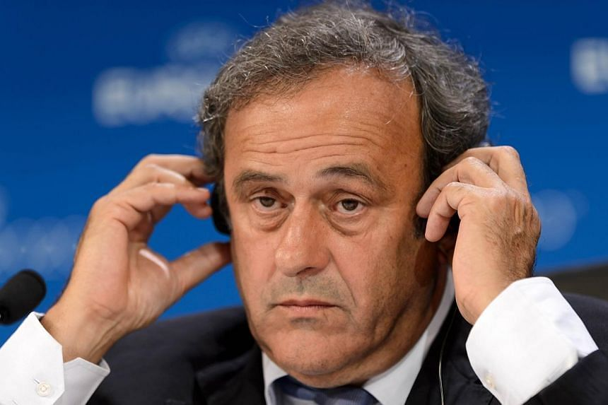 Uefa president Michel Platini says he wants to see the sin bin introduced in football, but only to combat back-chat from players. -- PHOTO: AFP