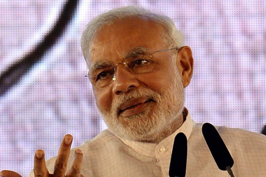Indian Prime Minister Narendra Modi on Thursday unveiled a string of labour reforms, seeking to fulfil a pledge to boost the country's manufacturing sector. -- PHOTO: AFP