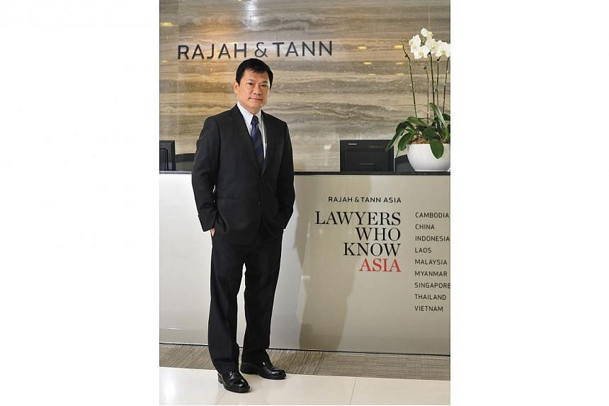 Mr Lau Kok Keng, partner with Rajah and Tann.Local law firm Rajah and Tann Singapore LLP has come on board as the fifth sponsor of next year's SEA Games from June 5-16. -- PHOTO:DIOS VINCOY JR FOR THE STRAITS TIMES