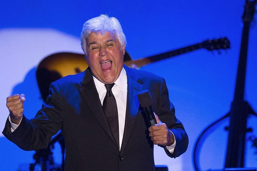 Comedian Jay Leno hosts the 2014 Carousel of Hope Ball at the Beverly Hilton Hotel in Beverly Hills, California on Oct 11, 2014. -- PHOTO: REUTERS