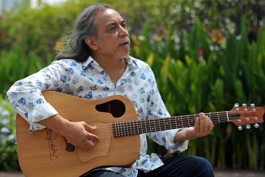 Ramli Sarip is marking his 45th anniversary making music with gigs and a limited-edition box set. -- ST PHOTO: RUDY WONG