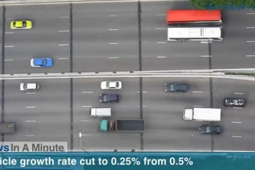 In today's News In A Minute, we look at the lowering of annual vehicle growth rate.  -- PHOTO: SCREENGRAB FROM RAZORTV