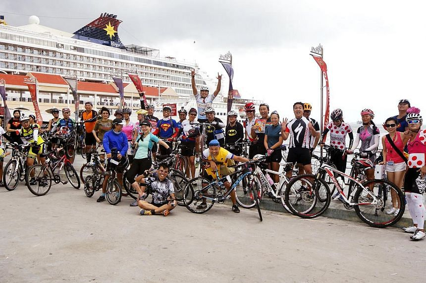 A cycling cruise will take participants on expeditions to places such as Phuket or Penang. -- PHOTO: STAR CRUISES