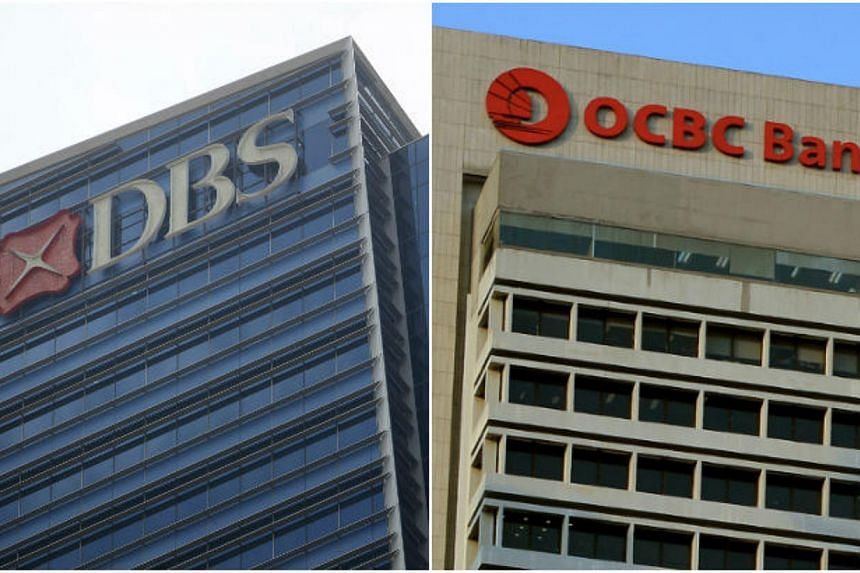 DBS Private Bank and OCBC's Bank of Singapore maintained their ranking among the top 10 wealth managers in Asia. -- ST PHOTOS: KEVIN LIM/KUA CHEE SIONG