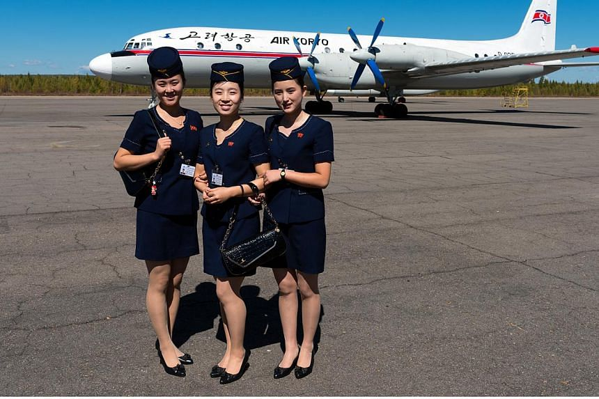 Greeted by smiling Air Koryo flight attendants dressed in smart navy blue outfits before he boarded an Ilyushin Il-18 plane, a large turboprop airliner. -- PHOTO: ARAM PAN(www.dprk360.com)