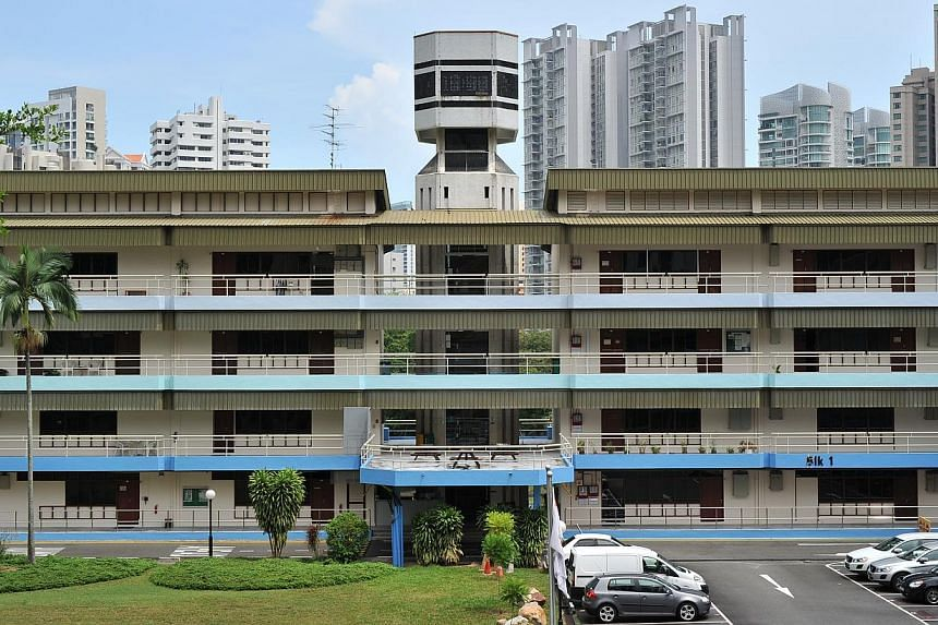 The former Raffles Institution in Grange Road. -- PHOTO: LIM YAOHUI FOR THE STRAITS TIMES
