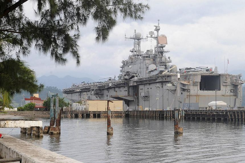 The suspect was being held on board the USS Peleliu pending an investigation into the death of Mr Jeffrey Laude, described by local police as a transgender sex worker. -- PHOTO: AFP