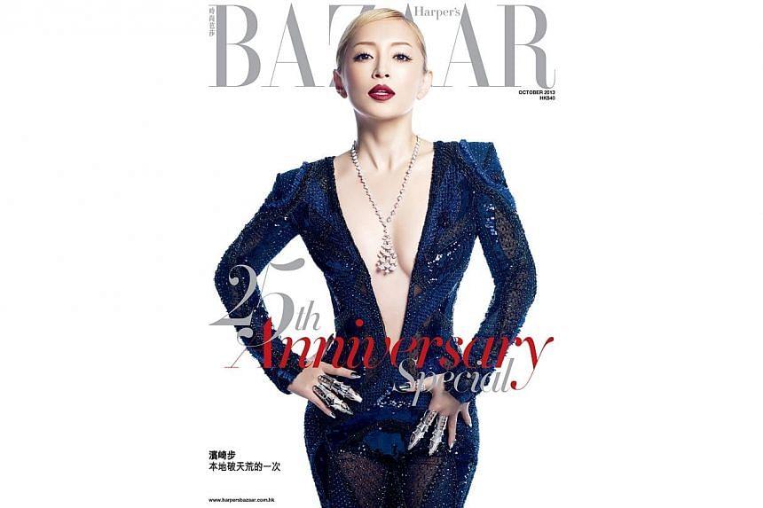 Japanese actress Ayumi Hamasaki on a magazine cover, Bazaar, shot by Tokyo-based Singaporean photographer ND Chow. -- PHOTO: ND CHOW