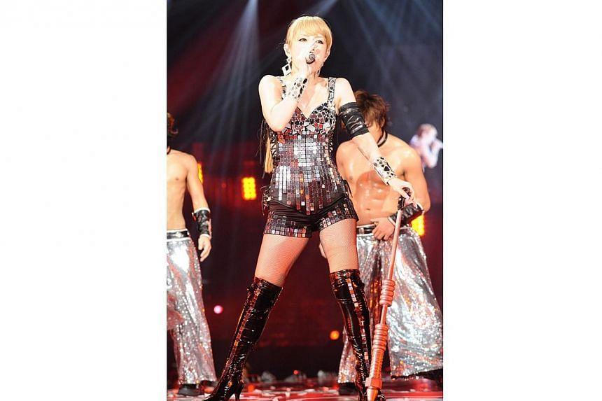 Cinema still: Ayumi Hamasaki's Arena Tour. -- PHOTO: AVEX ENTERTAINMENT INC