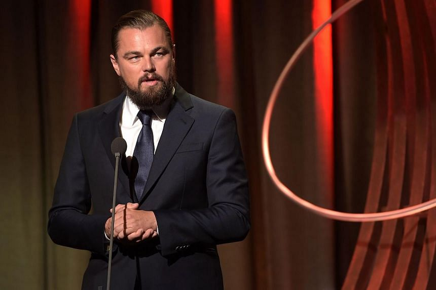 Leonardo Dicaprio speaks at the 8th Annual Clinton Global Citizen Awards at Sheraton Times Square on Sept 21, 2014 in New York City. DiCaprio has teamed up with online streaming service Netflix for a documentary about endangered mountain gorillas in