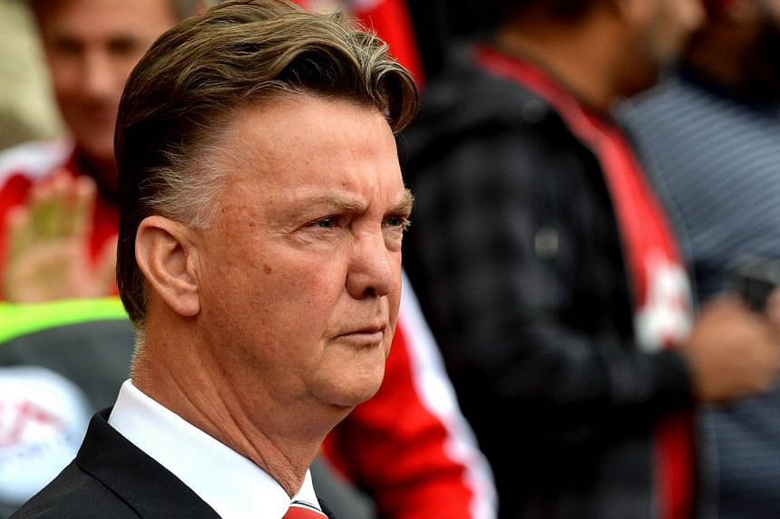 Manchester United's Dutch manager Louis van Gaal waits for the start of the English Premier League football match between Manchester United and Everton at Old Trafford in Manchester, Northwest England, on Oct 5, 2014. Van Gaal believes his players ar