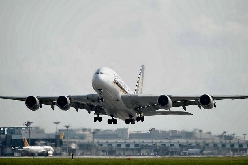 Major turbulence that hit a Singapore Airlines (SIA) flight from Singapore to Mumbai on Saturday night left eight passengers and 14 crew injured. -- PHOTO: AFP