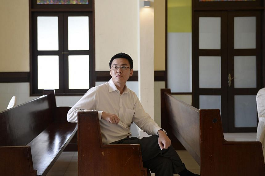 Managing director Ang Zi Qian invested about $700,000 in renovations to make Mount Vernon Sanctuary an award-winning funeral parlour. -- ST PHOTOS: DESMOND LIM