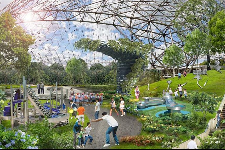 An artist's impression of the Jurong Lake Garden, which DPM Tharman has assured will not be developed in a rush.-- PHOTO: NPARKS
