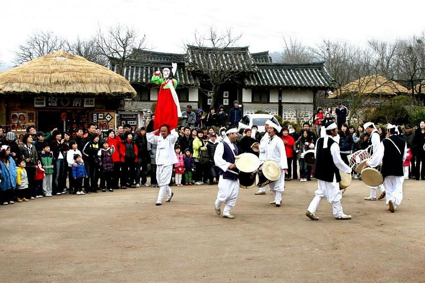 The Andong Hahoe Village is home to Confucianism in Korea.