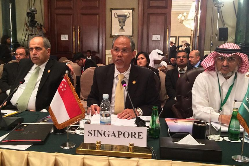 Senior Minister of State for Foreign Affairs and Home Affairs Masagos Zulkifli at the Cairo International Conference on Palestine and Reconstructing Gaza on Oct 12, 2014. Mr Masagos will be in Jordan from Monday for an official visit, and will t