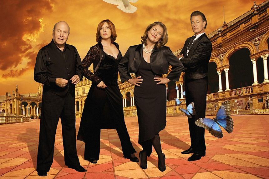 The Manhattan Transfer's (from left) Tim Hauser, Cheryl Bentyne, Janis Siegel and Alan Paul. -- PHOTO: MOSAIC