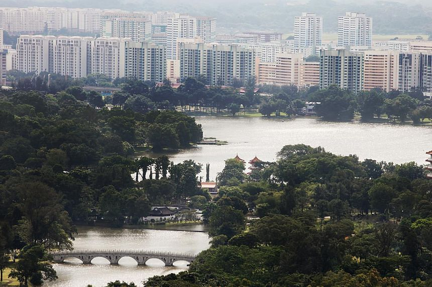 A view of the Jurong Lake and its vicinity.The transformation of the Jurong Lake District will be many years in the making. -- PHOTO: ST FILE