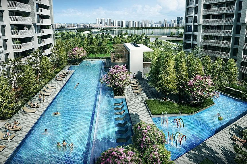Artist's impression of Keppel Land's 629-unit Lakefront Residences.Keppel Land said on Monday that net profit for the third quarter dropped 10.6 per cent from the same period a year ago to $113 million. -- PHOTO:KEPPEL LAND