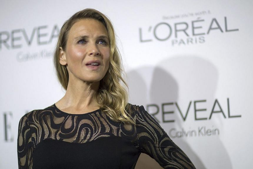 Actress Renee Zellweger poses at the 21st annual ELLE Women in Hollywood Awards in Los Angeles, California on Oct 20, 2014. -- PHOTO: REUTERS