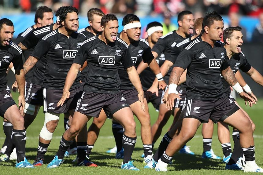 The New Zealand Maori All Blacks perform their haka prior to play against Team Canada during the AIG Canada friendly game at BMO Field on Nov 3, 2013, in Toronto, Ontario, Canada. The maligned pitch at Singapore's expensive new National Stadium