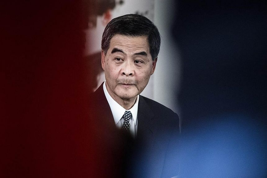 "Hong Kong Chief Executive Leung Chun-ying said on Tuesday there was room for the committee that selects candidates for the territory's 2017 election to be made ""more democratic"". -- PHOTO: AFP"
